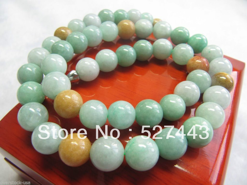 Wholesale free shipping &gt;&gt; FINE Certified 100% Natural Green Jade A Grade Jadeite Bead Necklace FINE <br><br>Aliexpress