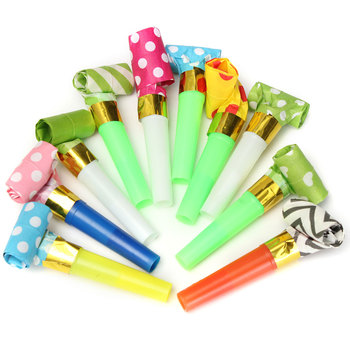 10Pcs Funny Kids Childrens Birthday Party Accessory Dots Whistle Blowing Dragon Blowout Baby Birthday Supplies