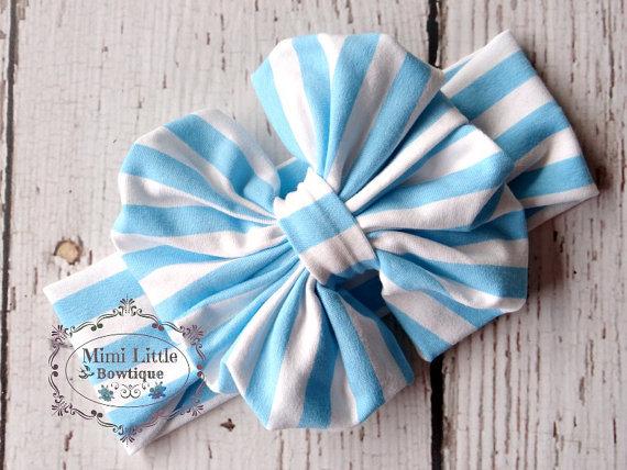 Baby Bow Headwrap Bow Turban Headband Girl Big Bow Head Wrap Headband Stretch Cotton Fabric Headwrap Top knot Headband 5pcs(China (Mainland))