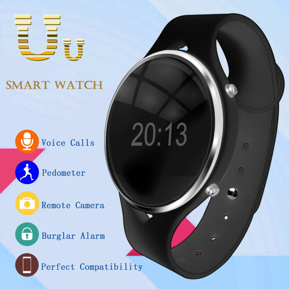 2016 Newest Smart Watch Uwatch Uu Wearable Device Bluetooth Wrist Watches Anti-lost for IOS iphone6 Samsung Android Phone(China (Mainland))