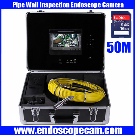 """Freeship 50m cable DVR Pipe Wall Sewer Inspection Camera System,7"""" waterproof Sewer detection video endoscope camera system(China (Mainland))"""