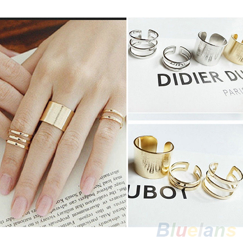 3Pcs/Set Fashion Top Of Finger Over The Midi Tip Finger Above The Knuckle Open Ring 01VW(China (Mainland))