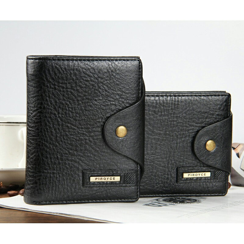 Fashion Men Wallets Hasp Cross Vertical Style Wallet Coin Pocket Quality PU Leather Black Brown Card Holder Purse(China (Mainland))