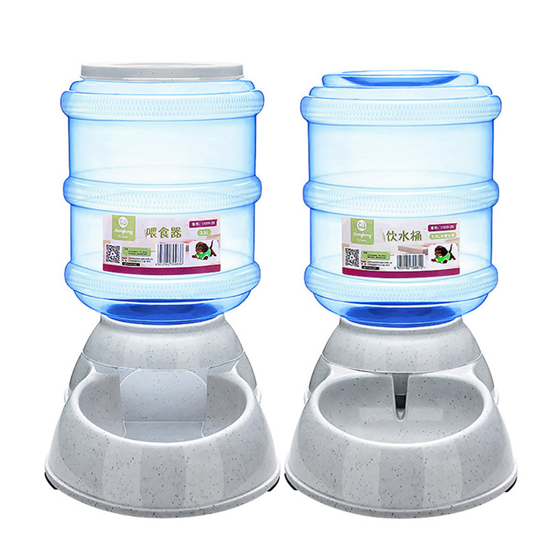 Pet Feeder Dog Automatic Food Water Feeder Pet Bowl Water Bowl for Dog Cat Dog Drinker Automatic Food Bowl 3.5L Pet Products(China (Mainland))