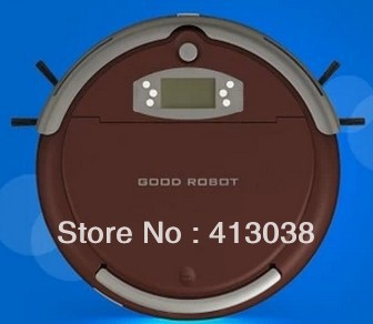 Special automatic intelligent robot vacuum cleaner sweeping sterilization shipping slim brown red(China (Mainland))