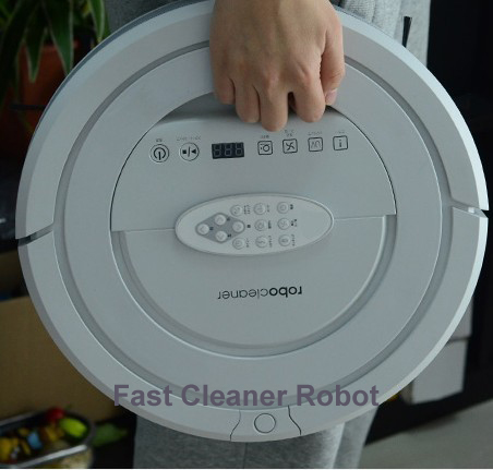 TOP-Grade Multifunctional 5 In1 Robotic vacuum cleaner QQ5, patent ultrasonic wall,UVSterilize,UV light,Auto Recharge(China (Mainland))
