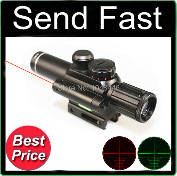 JGBGM6 4X25 red and green dual optical sight with red laser Rifle Scope with Free Mounts 20mm or 11mm<br><br>Aliexpress