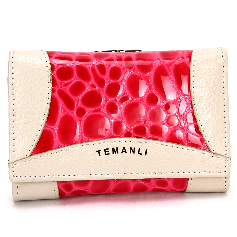 Creative female models female clutch bag new fashion leather wallet short paragraph Ms. wallet Wristlet(China (Mainland))