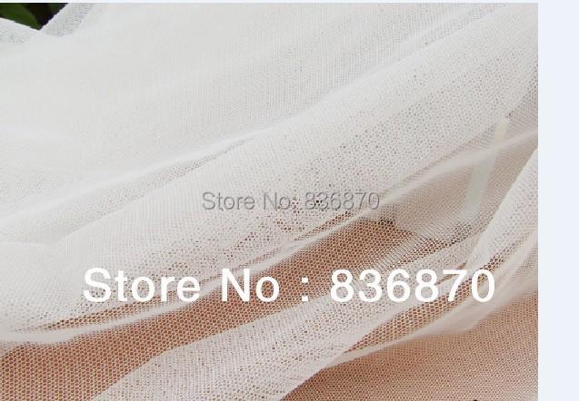 10yard ivory color Multifucntiona DIY mesh soft fabric,for wedding bridal dress, clothing, tent, skirt table cloth,curtain tees(China (Mainland))