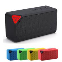 2016 Caliente Mini X3 Altavoz Portátil Bluetooth Manos Libres TF Radio FM incorporado Mic MP3 Subwoofer Inalámbrico con Batería Extraíble