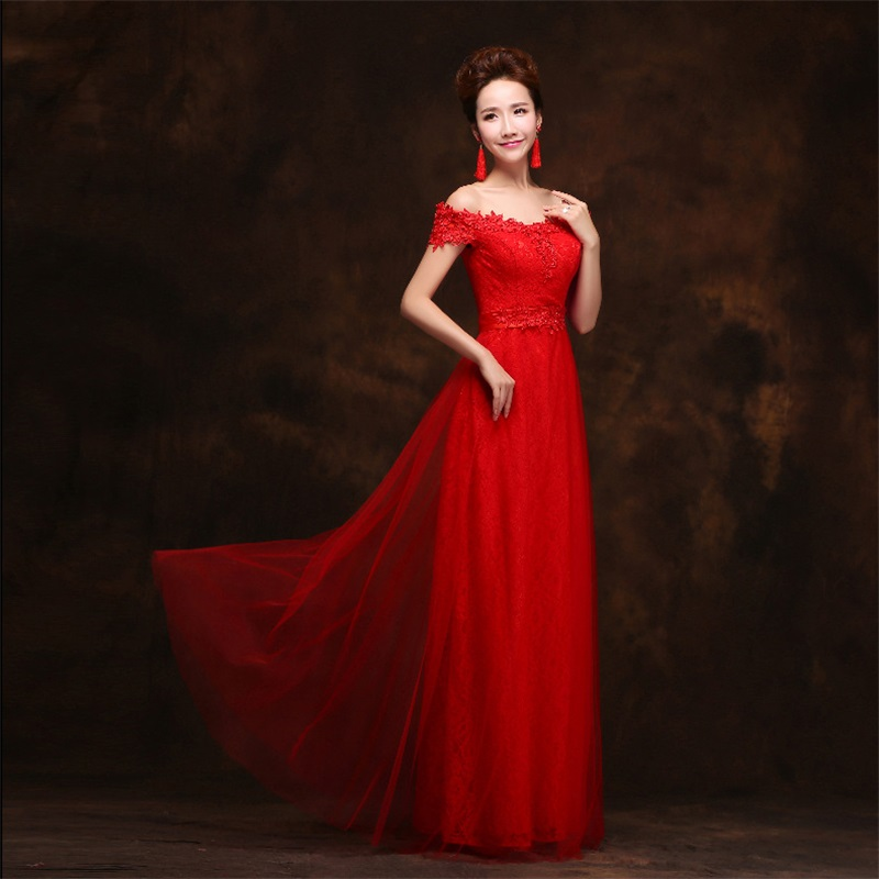 Chinese style vintage organza v neck embroidery a line for Chinese style wedding dress