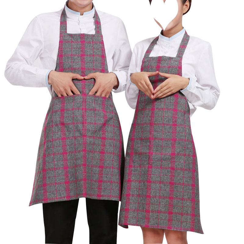 2016 New Brief Funny Cooking Aprons For Men And Women Plaid Kitchen Apron Waitress Aprons Jardineira Feminina Tablier Cuisine(China (Mainland))