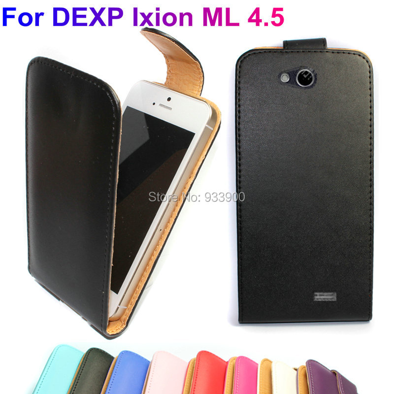 "For 4.5"" Smartphone DEXP Ixion ML 4.5 /NEW Hot Fashion Clamshell PU Leather Protection Flip Case Cover / You choose the color(China (Mainland))"