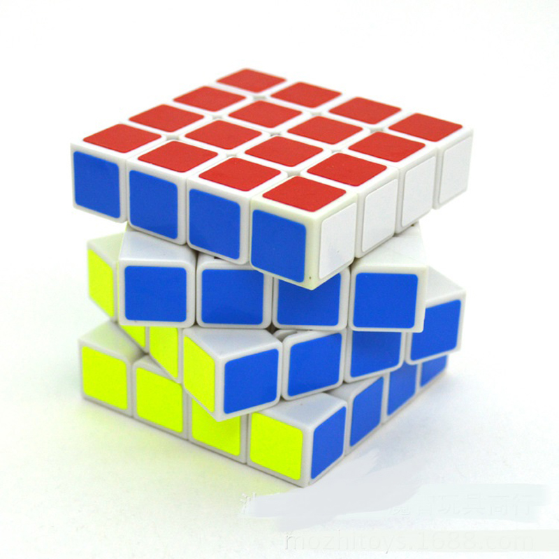 Classic  Gifts Fluorescent  Stickers Speed 4x4x4 Magic Cube Puzzles 4 Layer Cubo Magico Intelligence Education Baby Toys<br><br>Aliexpress