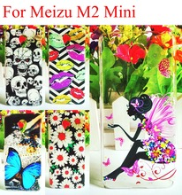 10 Styles Painting Meizu M2 Mini Case Housing Hard Plastic Protective Back Cover Case for Meizu M2 Mini 5.0inch Smartphone Skin
