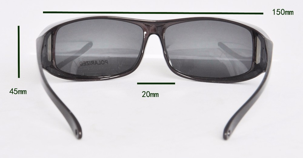 f6dbdf1867 Wholesale- Polarized Lens fit over Sunglasses Wear Over Prescription  Glasses For Men and Women Size Middle Glasses with protection cases