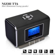 TT6 Mini Speaker Portable Subwoofer Speakers with LCD Support Mini FM Radio SD/TF Card USB Disk Digital Sound Box Altavoz