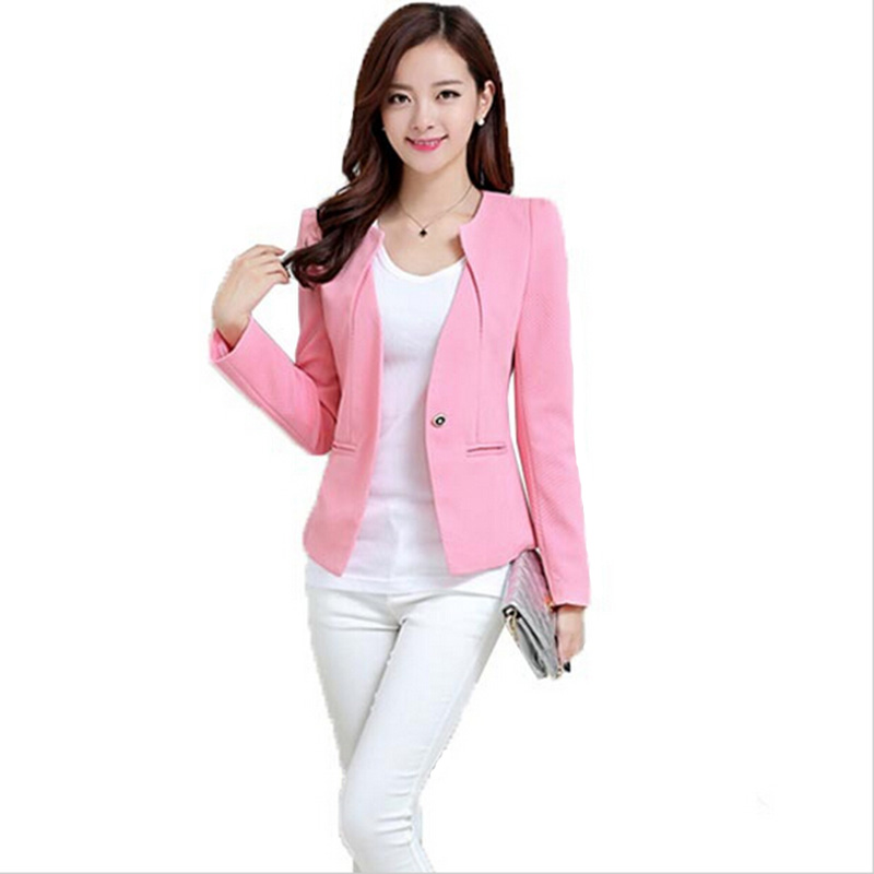 Spring Women Slim Blazer Coat 2015 New Fashion Casual Jacket Long Sleeve One Button Suit Ladies Blazers Work Wear WT101(China (Mainland))