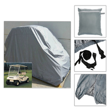 2016 High Quality 4 Passenger Golf Cart Cover For Yamaha EZ-GO Club Car Grey/Khaki Cover Protect Against Rain Sun(China (Mainland))