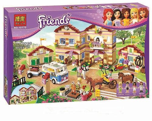Фотография 1118pcs Legoelieds Friends Girls Equestrian summer Riding camp Theresa Emma Ella Stephanie horses Best building blocks bricks 4