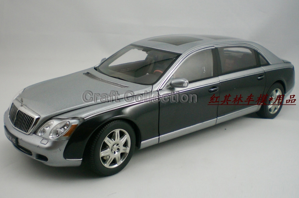 * One Piece Only! Rare Black & Gray 1:18 AutoArt AA Maybach 62 Diecast Model Car Luxury Collection Limitied Edition(China (Mainland))