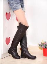 ENMAYER Free shipping new 2015 long boots women attack on titan cosplay shoes Over-the-Knee bootsfor Women Big Size 34-43