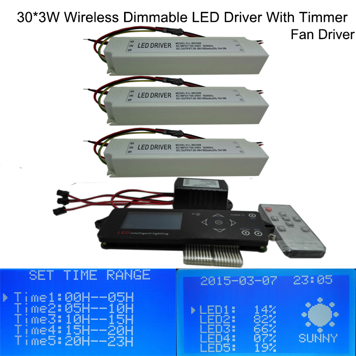 Wireless Dimmable Sunset Sunrise 90W LED Driver,90W aquarium led light, diy led grow light led bulb(China (Mainland))