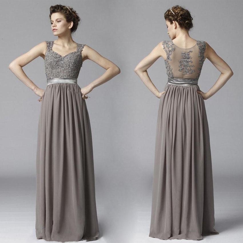 Robes de mode robe longue grise mariage for Robe formelle grise pour mariage