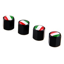 Black Italy Flag Air Tyre Valves Stem Reasonable Price Car Wheel Tire Valve Caps Cycle Valves Stainless Steel Brand New Hot Sale(China (Mainland))