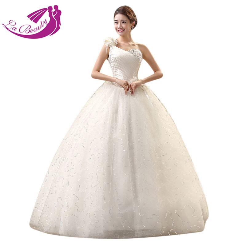 Cheap Wedding Dress Flower Sequined Beading Organza