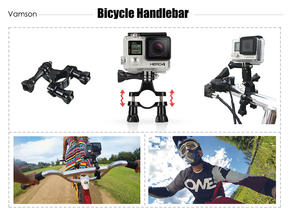 Xiaomi Yi 4k Accessories Set for gopro kit Three way Monopod selfie stick for Eken h9r Gopro Hero 5 4 3+ Action Camera VS77