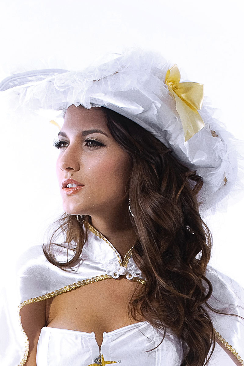 Sexy Pirate Costume Headwear White Novelty Church Hat For Women(China (Mainland))