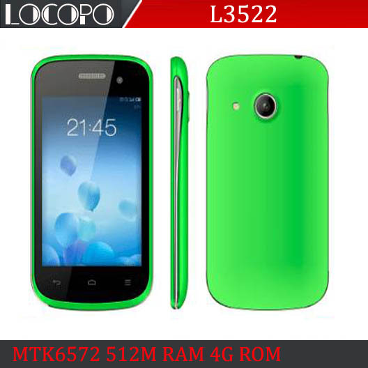 "Cheapest LOCOPO L3522 3.5"" CHEAPEST Smart Phone MTK6572 Dual SIM Dual Core Android 4.4 512MRAM 4GB ROM480x320 Cheap Cell PHone(China (Mainland))"
