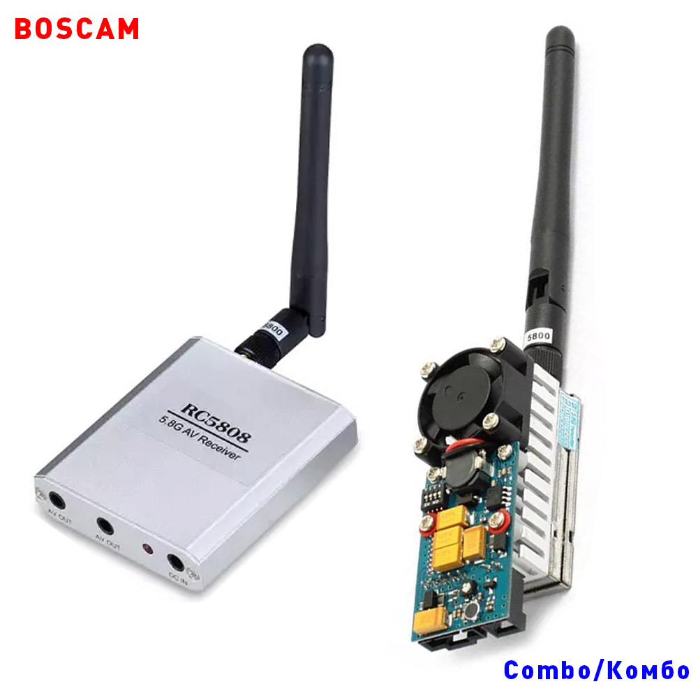 BOSCAM 5.8ghz 1000MW 8CH long range wireless audio video fpv transmitter and receiver quadcopter TX RX combo helicopter drone(China (Mainland))
