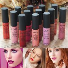 1pcs hot Soft Dull ny Liquid Lipstick Long Lasting waterproof lip stick Lip Gloss to mouth for women lips makeup lipstick