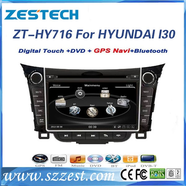 A8 chipset 7 inch 2 din car gps navigator for Hyundai I30 car accessories car spare parts with 3G Wifi support IPOD mp3 player(China (Mainland))