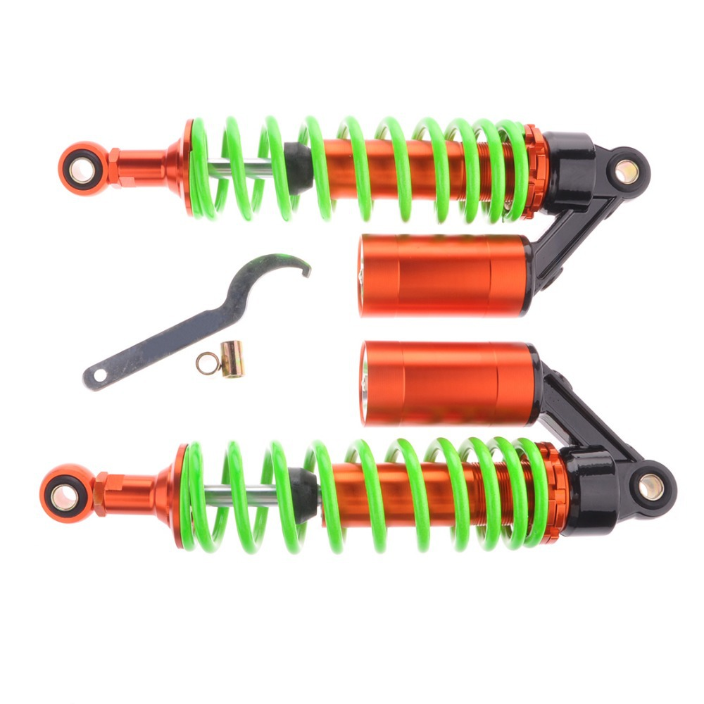 Pair Motorcycle 320mm 12.5 Air Shock Absorbers 7mm Green Spring Round Ends [PA168]<br><br>Aliexpress