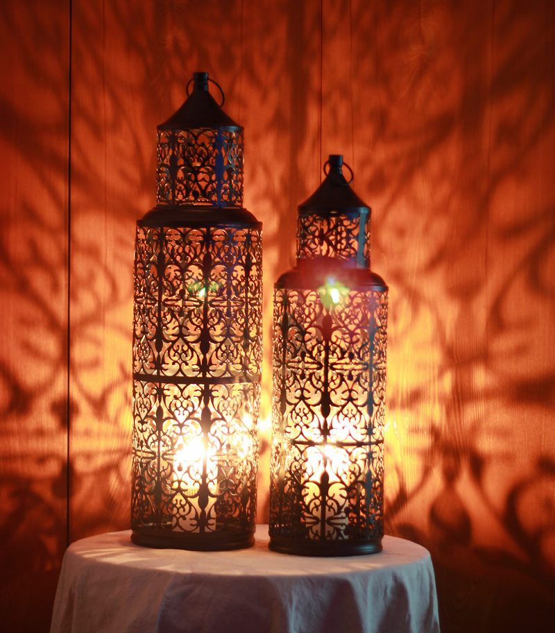 Morocco Style Large Iron Candle carved Louhua wonderful light luxury landing(China (Mainland))