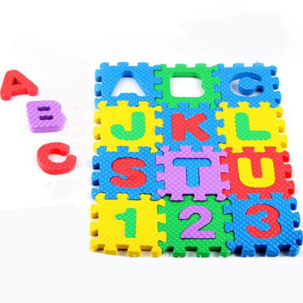 Floor mats for kids -  36pcs Baby Kids Eva Foam Numbers And Alphabet Play Mat Educational Floor Mats