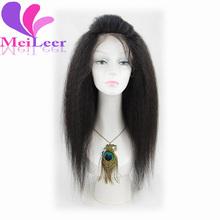 6A Grade Yaki Straight Lace Front Human Hair Wigs Best Glueless Brazilian Virgin Kinky Straight Lace Front Wigs