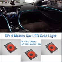 Toyota FJ Cruiser / DIY 9 Meters 12V Car EL Cold Light, LED Interior Lights, Decorative Ambient Lighting Lamp - ManYi Eler International Co., Ltd. store