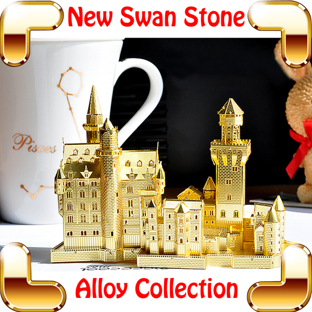 Buy New Year Gift New Swan Stone Castle 3d Model Castle Building Metal Puzzle