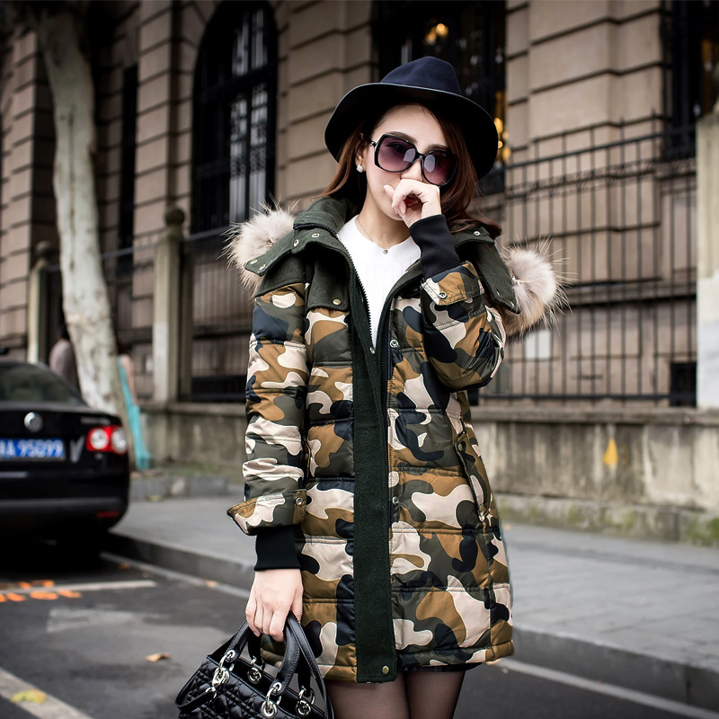 2015 Winter Women camouflage jacket Female Outerwear Plus Size 2XL Thickening Casual Cotton Wadded Coat Parkas - Crazy Girl ( store)