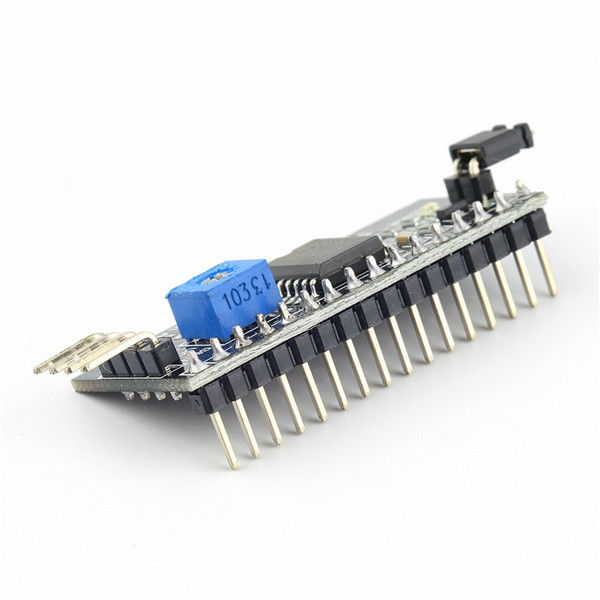 1pc Board Module Port for Arduino 1602 LCD Display Adjustable Backlight of Interface Module IIC/I2C/TWI/SPI Serial Newest(China (Mainland))