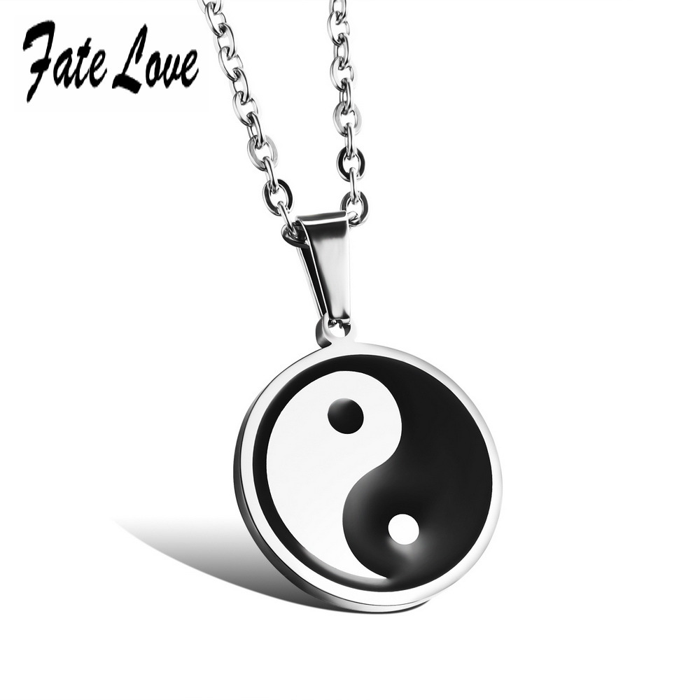 Vintage Traditional Pendant Classic Stainless Steel Tai chi bagua Pendant Necklace Made With Plastic In China 959(China (Mainland))