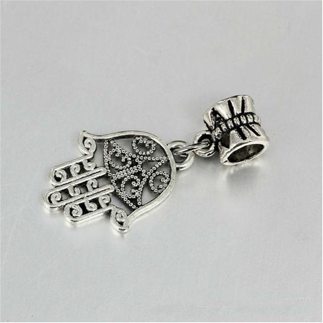 Diy браслет старинные серебряные бабочка пряжка ладони подвеска серебрение это сделает ...