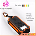 Portable Solar Power Bank Waterproof 5V Output Quick Charger Universal Charging Station Exter Battery Pack Double