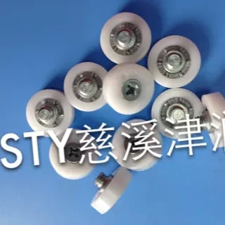 DR-19-C1L3 Short teeth Drawer round Plastic bearing rollers Screw the small rubber tire height 10mm(China (Mainland))