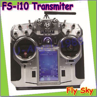 Free shipping + 100% Original FlySky FS-i10 2.4G Digital Proportional 10 Channel Transmitter &amp; Receiver with 3.55 TFT screen<br><br>Aliexpress