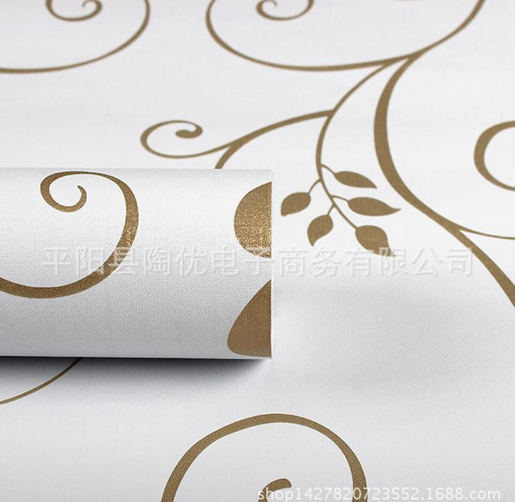 Buy 3 get 1 pvc vinyl wallpaper European minimalist wall stickers waterproof wallpaper(China (Mainland))